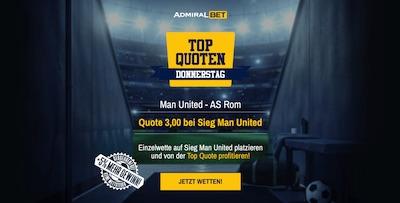 Admiralbet Top Quote Man United besiegt AS Roma wetten