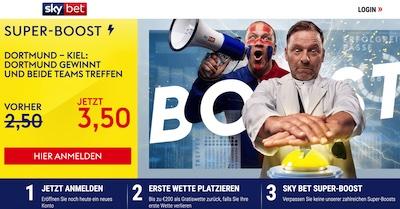 3.50 auf BVB gewinnt und beide treffen bei Skybet
