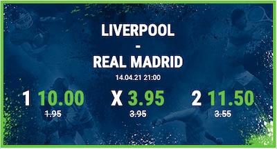Verbesserte Bet at home Quoten zum Spiel Liverpool - Real Madrid