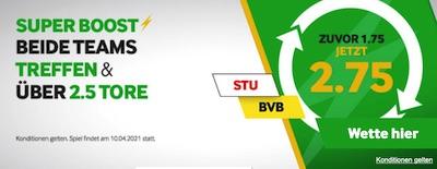 Betway Super Boost Quote Stuttgart Dortmund wetten