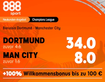 Champions League Borussia vs City 888sport