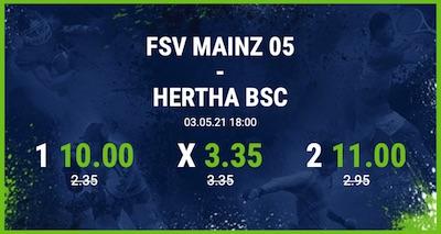 Bet at home Mainz Hertha verbesserte Quoten wetten