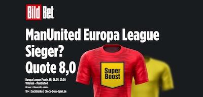 BildBet Man United Europa League Sieger wetten erhöhte Quote