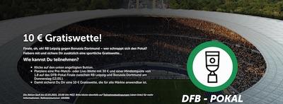 ComeOn Freiwette Pokal Endspiel Leipzig Dortmund wetten