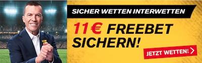 11€ Freebet von Interwetten