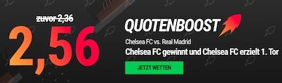 Neo.bet boostet die Quoten für das CL-Rückspiel Chelsea - Real