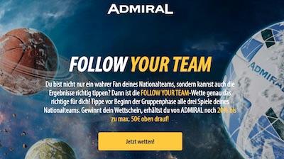 Extra gewinne bei der Admiralbet Aktion
