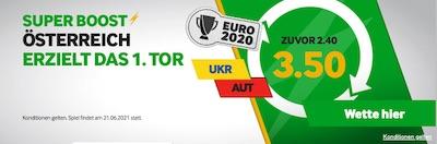 Betway Ukraine Österreich erzielt 1. Tor UEFA Euro 2020 Wetten
