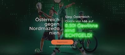 Mr Green Österreich Nordmazedonien Wetten erhöhte Quote EURO 2021