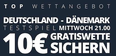 Novibet Freiwette zu Deutschland - Dänemark
