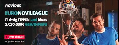 Mit der Novileague bis zu 2 Millionen Euro gewinnen!