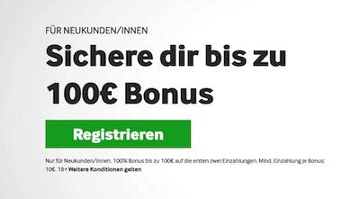 Betway Willkommensbonus - 100 Euro