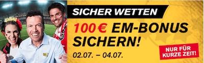 100€ Bonus von Interwetten zur EM