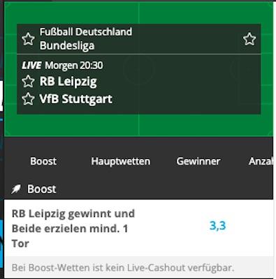 Wette bei Neo.bet mit gesteigerten Quoten auf Leipzig Stuttgart!