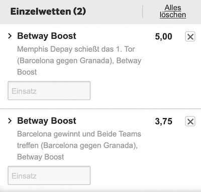Betway Boost Barcelona Granada