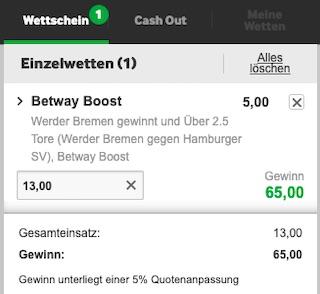 Betway Super Boost Bremen HSV