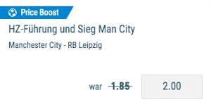 City vs. RB Sportingbet Boost